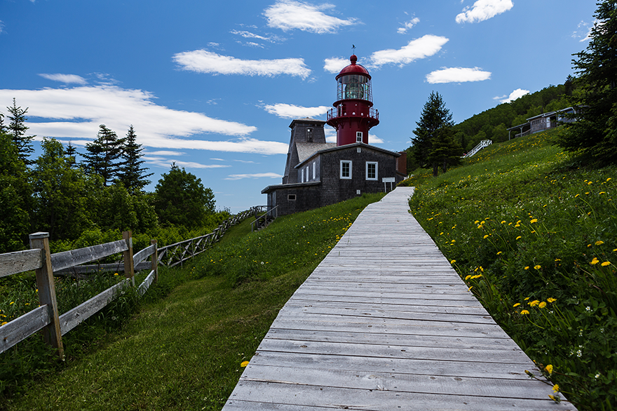 Hiking trail leading to the lighthouse