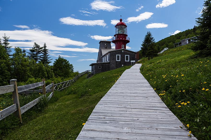 Sentier menant vers le phare