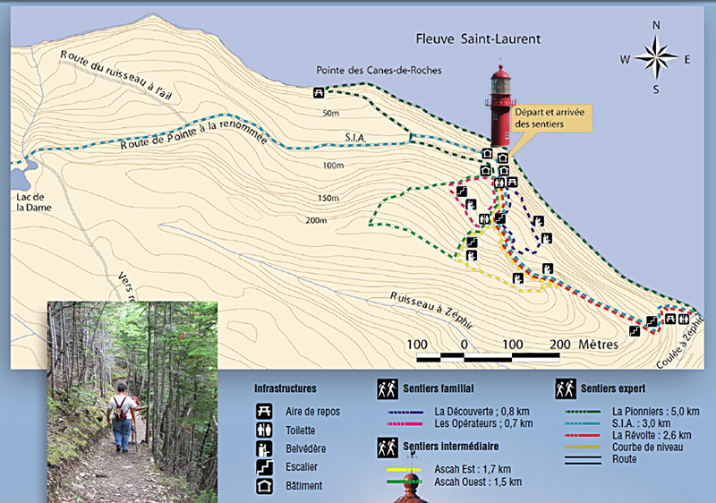 Hiking trails map